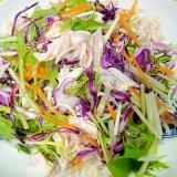 水菜とササミ紫キャベツのサラダ
