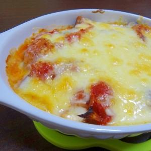 チーズがとろ~り!なすとツナのトマトグラタン♪