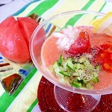 「キ〜ン!」と冷たい★食べるトマトジュース。