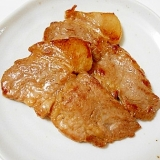 豚肩ロースブロック肉で 生姜焼き