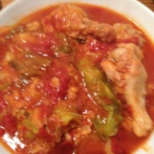 手羽元とキャベツのトマト煮込み 圧力鍋レシピ