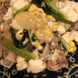 簡単♪麺つゆで肉豆腐の卵とじ^_^