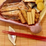 レンジで簡単!秋刀魚とごぼう煮