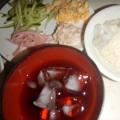 お好み材料と食べる素麺