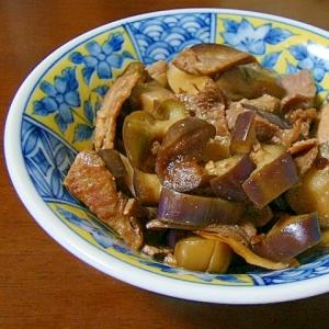 食欲そそる♪茄子と豚のぴり辛甘味噌炒め