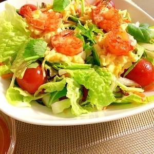 海老と卵のアジアンピリ辛サラダ