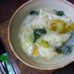 ごま油香る餃子スープ