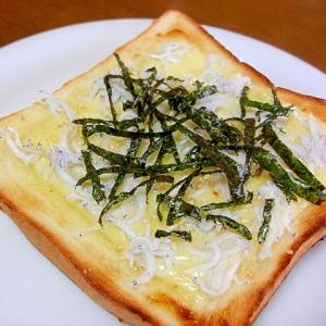 しらすとマヨチーズのトースト