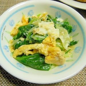 レタスと卵のマヨ炒めサラダ
