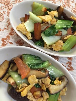 青梗菜と椎茸のオイスター炒め