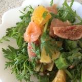 春菊とスモークサーモンのサラダ