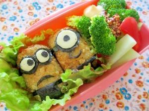 ミニオン餃子コロッケ弁当