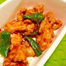鶏胸肉の梅味噌炒め