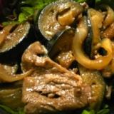牛肉と茄子の焼肉のたれ炒め