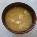 豆腐とえのき茸と長ネギのお味噌汁