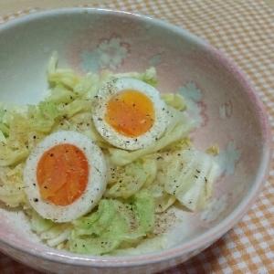 糖質制限♥蒸しキャベツとゆで卵♥