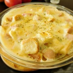 バターなし トマト・パン・魚ニソの夏グラタン