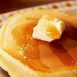 簡単・小麦粉で作る素朴なホットケーキ♪パンケーキ