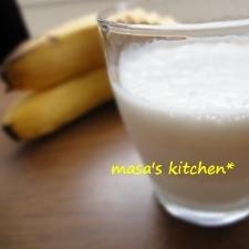 忙しい朝に★我が家のバナナミルク♪