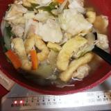 具だくさん水餃子スープ