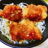やみつき味噌ダレ‼︎‼︎味噌チキンカツ丼