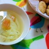キャベツのとホタテのスープ