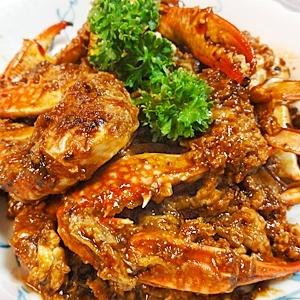渡り蟹のピリ辛卵炒め
