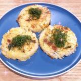 納豆チーズキムチのお焼き