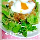 納豆と、サラダ