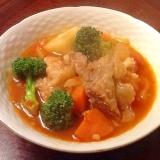 あり合わせの野菜で作る 洋風牛スジ煮込み