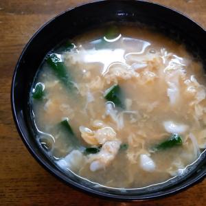 ワケギの卵とじ味噌汁