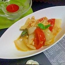 トマトと玉ねぎの卵炒め~イタリアン風~