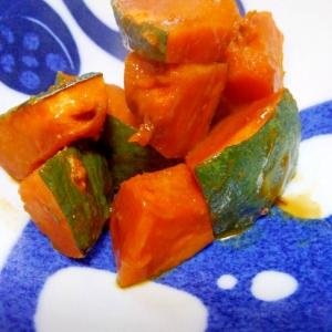 かぼちゃのレンチン からし醤油煮