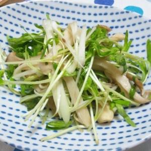 焼きエリンギと空心菜新芽のサラダ