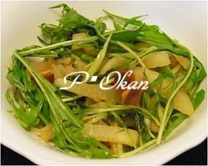 大根と水菜のペペロンチーノ風