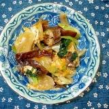 生きくらげと豚肉と新たまねぎの卵とじ炒め