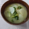 かぶ葉&かぶの味噌汁