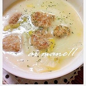 豆腐入り肉団子のクリーム煮