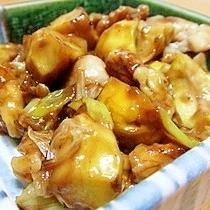 鶏肉と栗の炒め物