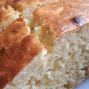 焼きバナナでバナナケーキ。トースター・小麦粉使用