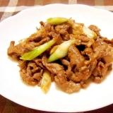 お弁当に★牛肉と長ネギの甘辛炒め