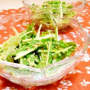水菜のごまマヨ和え
