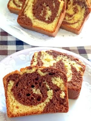ホットケーキミックスdeマーブルパウンドケーキ♡
