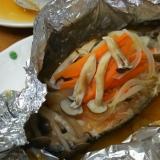 フライパンで簡単!!鮭のホイル蒸し焼き