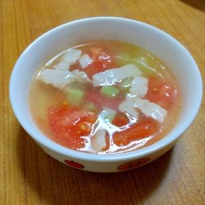 【離乳食】豚バラとトマトのスープ