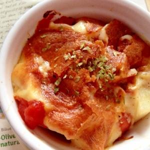 カルディレシピ☆「トマト缶×じゃがいものチーズ焼」