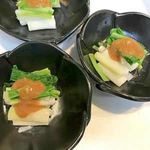 酒の肴にも☆うるいの葱酢味噌