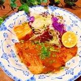 赤魚のムニエル☆味噌バターソース