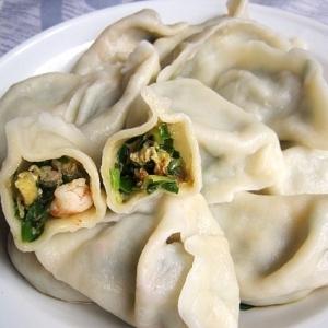 豚肉海鮮ニラ水餃子(猪肉海鮮韮菜餃子)