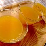 アガーで作る オレンジゼリー